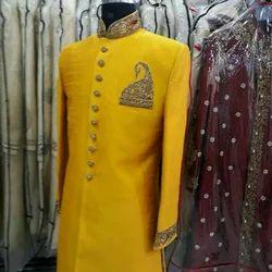 Men Yellow Golden Indo Western Suits