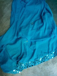 Blue Cotton Fancy Dupatta