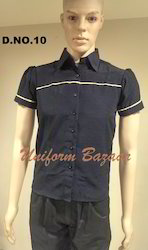 Navy Blue Restaurant Shirt