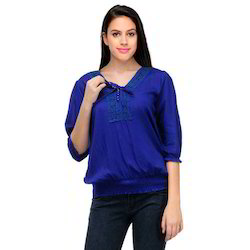 Blue Ladies Tops
