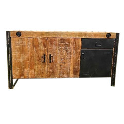 Iron And Wooden Side Board