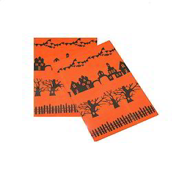 Cotton Multicolor Halloween Printed Guest Towel, Size: 45x65 Cms