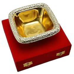 Gold Plated Square Bowl