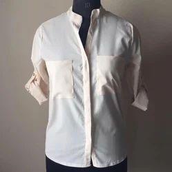 Beige Formal Shirt