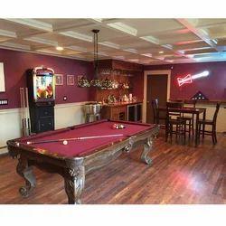 Brown Asian Flooring Billiards Flooring