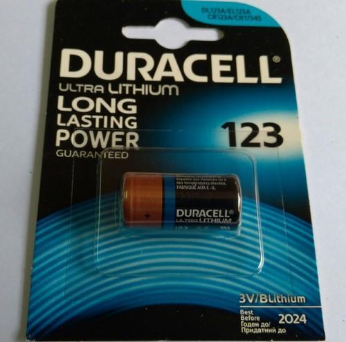 Duracell Lithium Battery CR 123, Voltage: 3 V