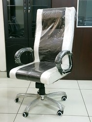 Black Leather Seat Revolving Office Chair