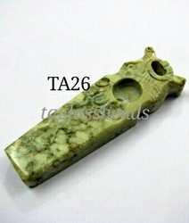 Lion Face Soap Stone Smoking Pipe