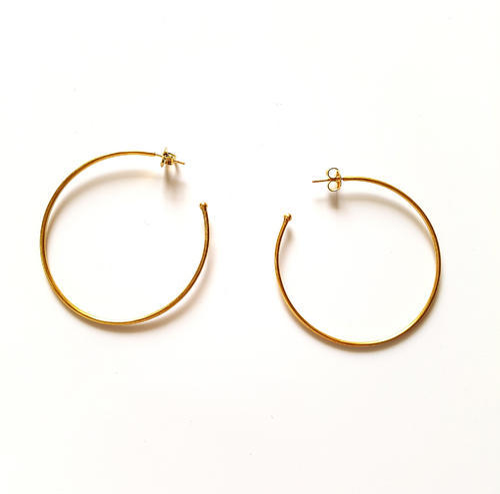 Silver Round Pipe Hoop Shape Earring