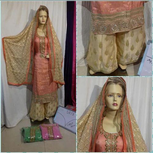 9009595cd4 Wedding Wear Georgette Gotta Party Sharara Suit