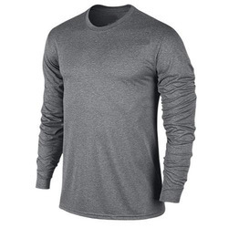 Grey Wool Men's Full Sleeve T-Shirt