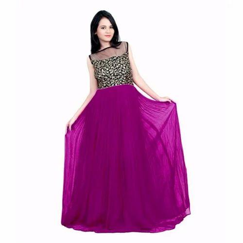 56180762ec1 Ladies Designer Dark Pink Gown at Rs 799  piece