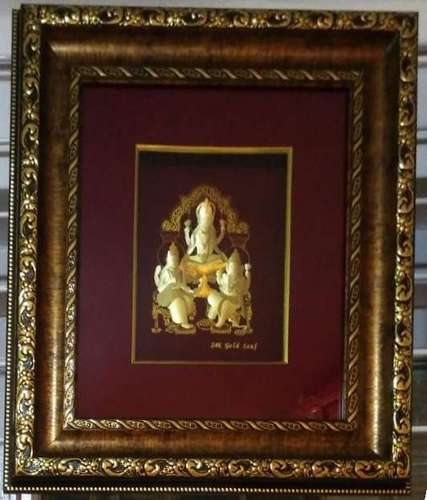 Diwali Pujan Gold Leaf Frame 16x18 Outer Size At Rs 3500 Piece