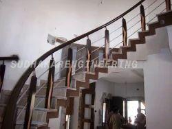 Burma Teak Wooden Handrail
