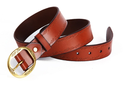 226050136 Ladies Brown Leather Belt at Rs 290 /piece(s)   Womens Leather Belt ...