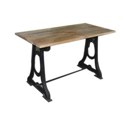 Iron Dining Table With Wood Top