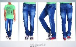 Mens High Fashion Low Waist Slim Fit Jeans