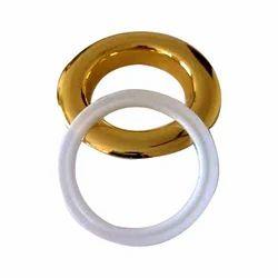Plastic Golden Curtain Eyelet Ring, Packaging Type: Box