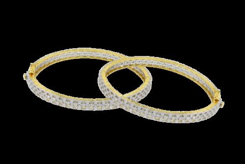 Hiraco Trendy Diamond Bangle, Weight: 6.3 Ct