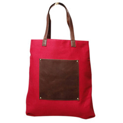 Red,Brown Etc. Pu Leather Plain Ladies Handbag, For Casual Wear