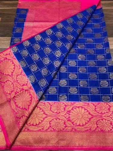 49af083063 Banarasi Handloom Semi Dupion Saree at Rs 2450 /piece | Banarasi ...
