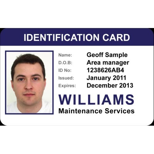 Free sample id employee card with customized printing buy high.