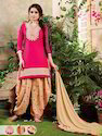 Embroidered Designer Cotton Dress Material, Gsm: 100-150