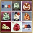 Grey Ceramic Car Ganesha Idol Gift Ganesha Wedding Favors, Size: 2.5