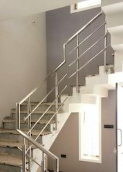 Panel Side Mounted Round Vertical Stainless Steel Railing