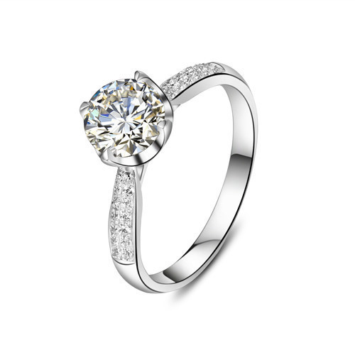 96833e593c1e6 Diamond Wedding Ring In 14k White Gold