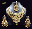 Artificial Heavy Ssilver gold Colored Stone necklace Sets