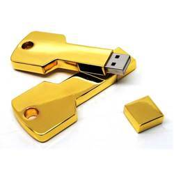 Golden Metal Key Pen Drives