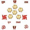 Designer Diya With Rangoli Stencils DD105