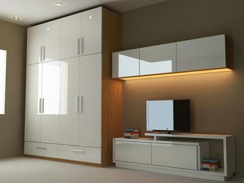surprising bedroom designs tv wardrobe | Wooden Bedroom Wardrobe, Rs 750 /square feet, Design India ...