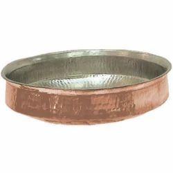 Round Copper Lagan, Size: 12 Inch To 24 Inch