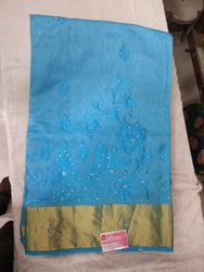 Fancy Cotton Embroidery Sarees