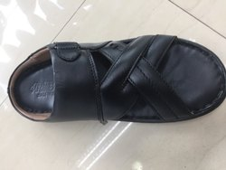 Black Leather Chappal