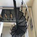 Modern Cast Iron Spiral Staircase