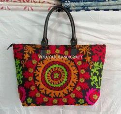 Suzani Handbag Embroidered Tote Bag