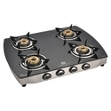 Four Burner Glass Top LPG Stove
