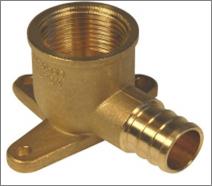 Brass PEX Drop Ear Elbow