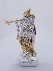 Silver Plated Radha Krishna Idol