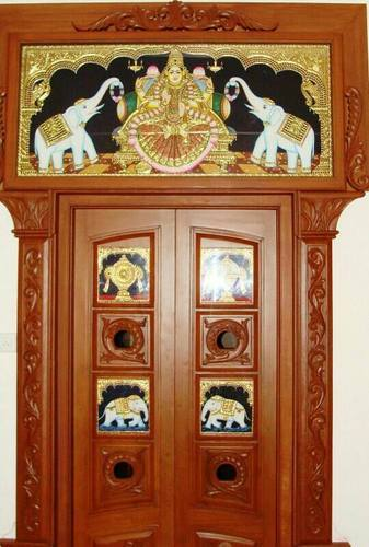 Gaja Lakshmi Entrance Design Pooja Room Designer