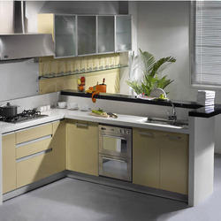 L Shape Modular Kitchen Cabinets