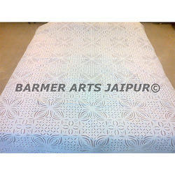Cotton Hand Made Applique Work Bed Cover