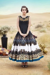 Bhagalpuri Designer Party Wear Gown