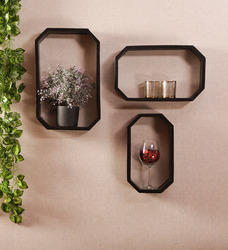Wall Mounting Wooden MDF Wall Shelf, Dimensions: 11.5 x 4 x 18 inches