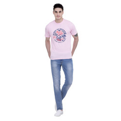 Mens Cotton Round Neck T-Shirts, Size: M, L and XL