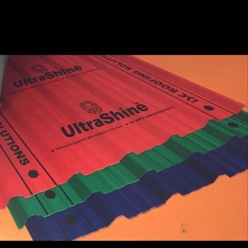 Colour Coated Roofing Sheets Ultrashine at Rs 80 /kilogram   Colour ...