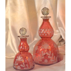 Red Lusters Glass Bottle